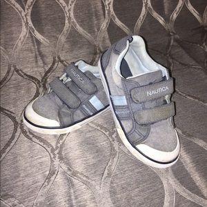 Boys Nautica Loafers • Boat Shoes • Sz 11 • Velcro